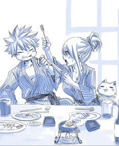 Natsu x Lucy Fairy Tail by Hiro Mashima Fairy Tail Lucy, Fairy Tail Nalu, Fairy Tail Ships, Fairy Tail Amour, Art Fairy Tail, Image Fairy Tail, Fairy Tail Guild, Fairy Tales, Couples Fairy Tail