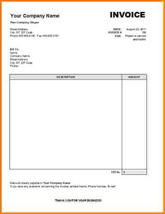 Fillable Commercial Invoice Template  Invoice Format In Excel