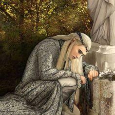 Thranduil remembering his wife. Legolas And Thranduil, Tauriel, Mirkwood Elves, O Hobbit, Hobbit Art, Sketch 4, Desolation Of Smaug, Elvish, Jrr Tolkien
