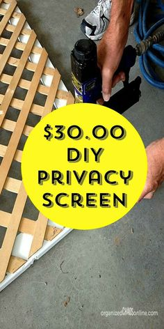 How to Make an Easy Patio Privacy Screen This might be the best privacy idea we've ever seen! I've seen several DIY projects for privacy fences, but I didn't want to spend a lot of money or put a ton of effort into this project. Balcony Privacy Screen, Privacy Walls, Backyard Privacy, Privacy Fences, Fencing, Privacy Plants, Outdoor Privacy Screens, Privacy Wall On Deck, Fence Plants