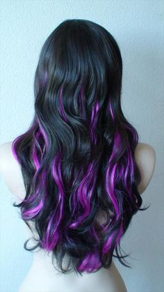 Purple Hair Highlight Ideas