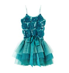 Sparkling like the colours of a turquoise sea, our Emerald Tutu Dress will put a smile on any little girl's face. Our blue tutu dress makes the perfect birthday tutu and aspiring prima ballerinas and performers everywhere will simply adore our Emerald Tutu. www.tutudumonde.com