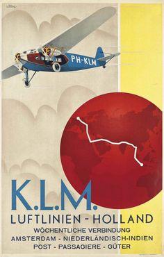 Emmanuel Gaillard, a favor de K.L.M., Luftlinien, Holland (c 1931).