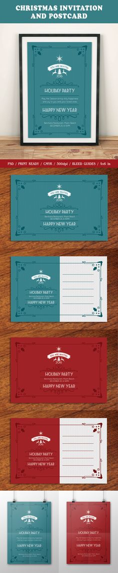 Graduation Invitation  Ai Illustrator Postcard Design And Font Logo