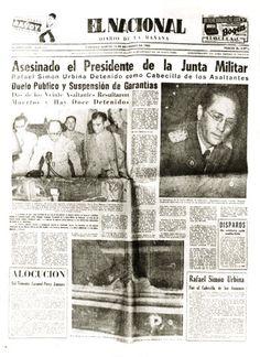 Caso del asesinato del Presidente de la junta militar Cnel Chalbaud. Publicado por El Nacional el 14 de noviembre de 1950.