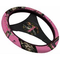Mossy Oak Pink Neoprene Steering Wheel Cover