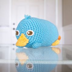Crochet your own Perry from Disney's Tsum Tsum with this free pattern! Check out the pattern for the smaller sized one too.