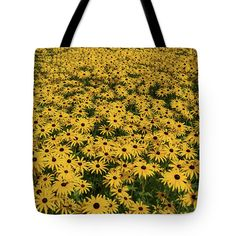 Photograph Tote Bag featuring the photograph Field Of Yellow by David Bishop