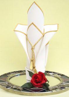 Royal Orchid Napkin Fold