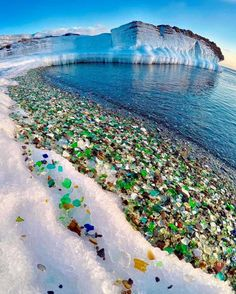 When an ecological disaster turns into a tourist attraction. Welcome to the glass beach of Ussuri Bay, not far from the city of Vladivostok, Russia, formerly us