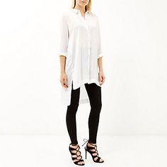 Chemise blanche longue