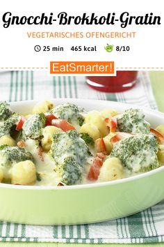 Gnocchi and broccoli gratin - Vegetarian oven dish: Gnocchi-broccoli gratin – smarter – calories: 465 kcal – time: 25 min. Easy Healthy Recipes, Veggie Recipes, Pasta Recipes, Healthy Snacks, Vegetarian Recipes, Easy Meals, Cooking Recipes, Broccoli Recipes, Recipes Dinner