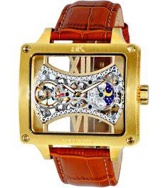 Adee Kaye AK2297-MG Men's Watch Automatic Skeleton Dial – Time Machine Plus