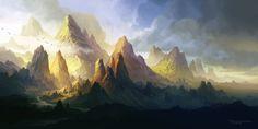 The land of Angol-elm, Ferdinand Ladera on ArtStation at https://www.artstation.com/artwork/oJ5J