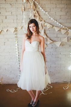 Glitter Gold Sweetheart Strapless Tulle Dress - Hollywood Heather. $980.00, via Etsy.