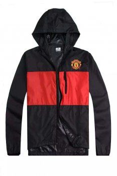 15-16 Season Mancehster United Black&Red Anthem Windbreaker Jacket [E710]
