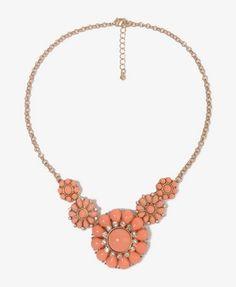 Flower Pendant Necklace | FOREVER 21 - 1044238203