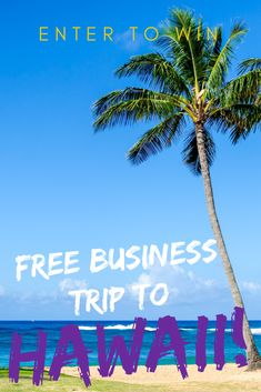Imagine winning a FREE Luxury Business Trip to Kauai, Hawaii in March 2018. Airfare, oceanfront resort hotel & spa, meals, and a $5,000 deal making event ticket included. Total value $12,000. Do a year's worth of deals in one week.
