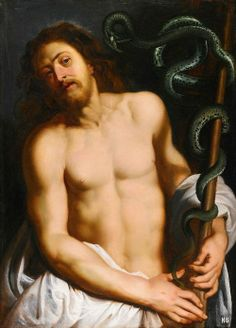 Christ and the Brazen Serpent. attributed to Peter Paul Rubens and studio. Flemish. 1577-1640. oil /canvas.