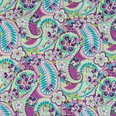 Vera Bradley Disney fabric Plums Up Mickey Remnant 100% Cotton 1 Yard