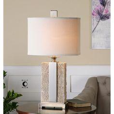 Uttermost Bonea Ivory, Light Beige Table Lamp 26508-1