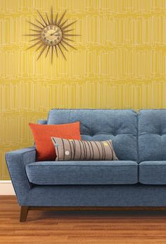 The latest in John Lewis, vintage revival range. Last year they dusted off some classic Ercol desings and gave a. G Plan Sofa, Home Living Room, Living Spaces, John Lewis Sofas, Scandinavian Sofas, Happy House, Large Sofa, Retro Chic, Mid-century Modern