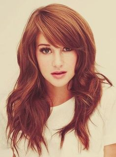 Glam Radar | 16 Great ideas of long hair with bangs Love her hair even though she doesn't really have bangs. Description from pinterest.com. I searched for this on bing.com/images