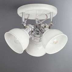 Holt White 3 Light Flush Spotlight | Dunelm