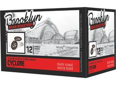 BROOKLYN BEAN ROASTERY: Cyclone Dark Roast Extra Bold Coffee, 12 cups