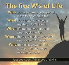 The Five W's.