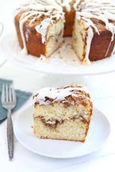 Yogurt Coffee Cake w/ Cinnamon Streusel from @twopeasandpod