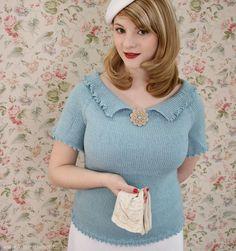 The Vintage Pattern Files: Free 1930s Knitting Pattern - Miss DeHavilland Sweater
