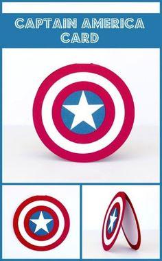 invitaciones de capitan america hechas a mano