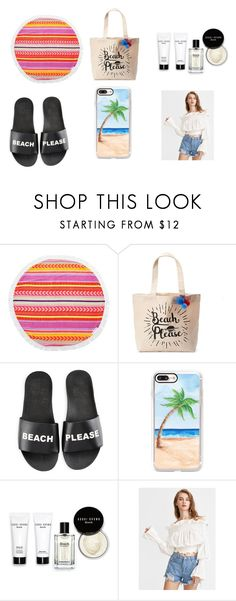 """""""Ready for beach"""" by misterperfect ❤ liked on Polyvore featuring Sunnylife, Tri-coastal Design, Schutz, Casetify and Bobbi Brown Cosmetics"""