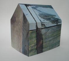 Printed paper houses Elizabeth Klimek, lithography