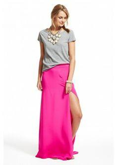Brava Silk Maxi Skirt