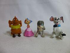 Disney PVC Figure Cake Topper Lot of 4 figures Dog Mouse #Disney