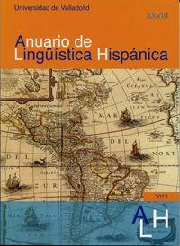 """Portada  """"Anuario de linguistica hispanica"""" nº 18"""