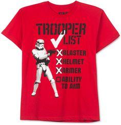 Star Wars Boys' Stormtrooper List T-Shirt