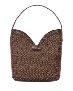 Watusi Bucket Bag, Antique/Black