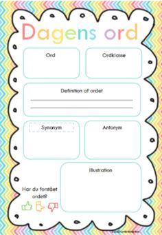 Stavemenu, slå et ord mm - Bubbleminds Language, Teaching, Education, School, Grammar, First Class, Languages, Schools, Learning