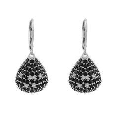 Black Spinel Dangle Earrings 925 Sterling Silver Designer Jewelry Christmas Gift #Unbranded #DropDangle