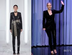 Jennifer Lawrence In Sally LaPointe - The Tonight Show with Jimmy Fallon - Red Carpet Fashion Awards