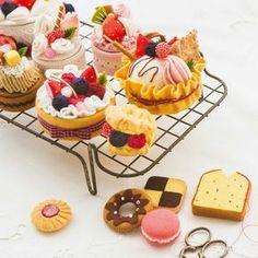 ずっと眺めていたくなるしあわせのケーキ|できあがりに感激! フェルトで作る本物みたいなパティスリーの会