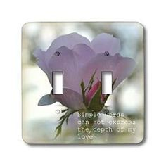 Simple Words Rose Romantic Flowers - Light Switch Covers - double toggle switch