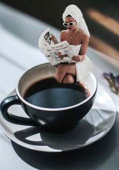 Morning Coffee Art Print by lorenwherry Coffee Love, Coffee Break, Coffee Shop, Good Morning Snoopy, Good Morning Coffee, Coffee Music, Coffee Art, Oromo People, Girly Dp