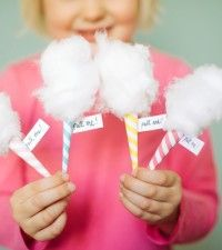 Sweet cotton candy invitation directions!