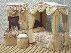 Lavender and Cream bedroom set that is so elegant..............   ................................♥...Nims...♥