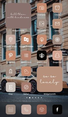 Want a home screen that looks like this? Check out SOSO Branding on Etsy (etsy.com/shop/sosobranding) for app covers to customize your home screen and make it aesthetically pleasing!   iPhone home screen ideas | Home screen inspo | Aesthetic home screen inspiration | Widgetsmith Shortcuts app | Aesthetic home screen inspo | iOS 14 widget photos | iOS 14 app covers | iOS 14 app icons Tinder Tips, Microsoft Visio, Shortcut Icon, Ios, Any App, Phone Themes, App Covers, Open App, Brown Aesthetic