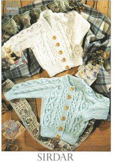 62f40cdab PDF Pattern   Vintage Baby Toddler Knitting Pattern   2 styles of ...